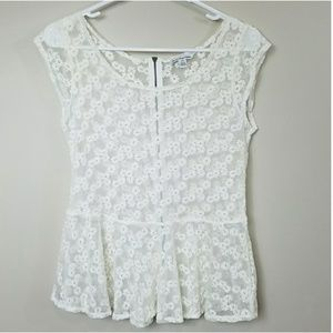 American Eagle Outfitters Sheer Floral Top
